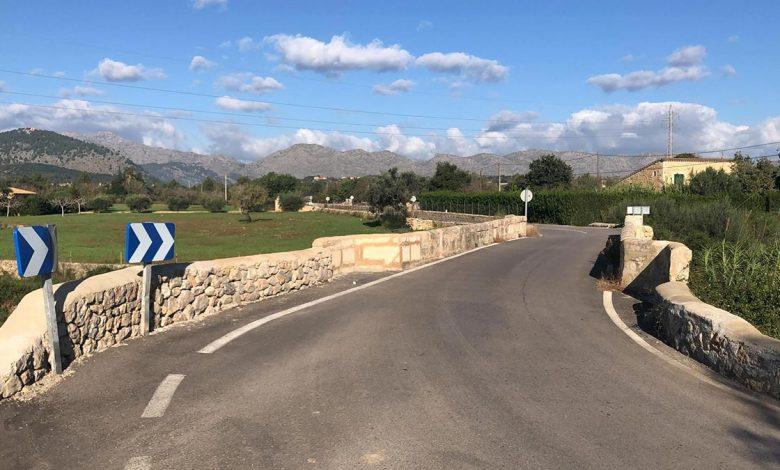 Imatge que demostra el mal estat de la carretera vela d'Alcúdia
