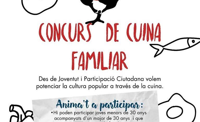 Cartell del Primer Concurs de Cuina Familiar
